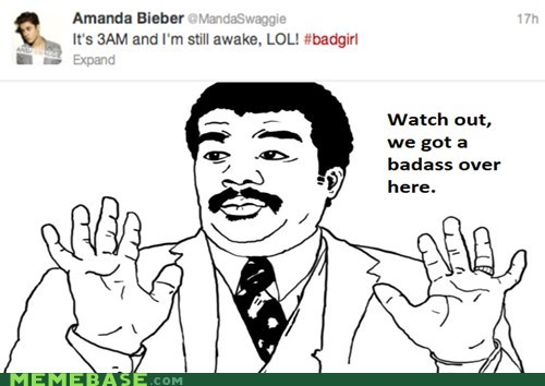 amanda bieber,so hardcore,twitter,we got a badass over here,weird kid