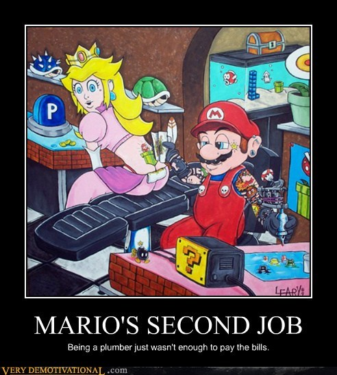 bills mario Pure Awesome tattoos video games - 6376444928