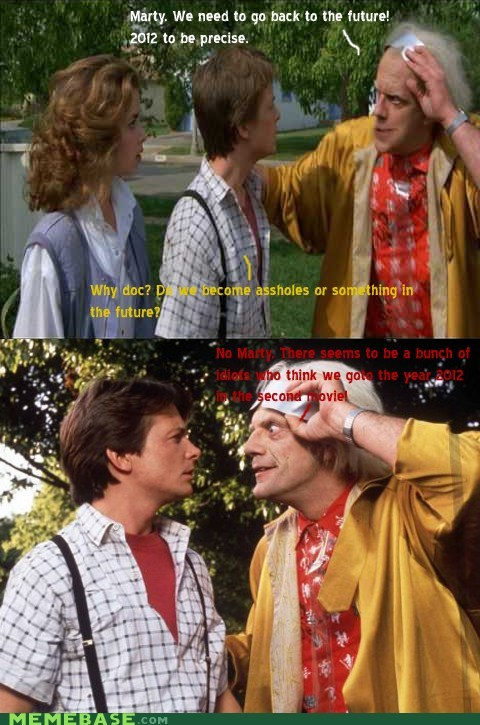 2012 back to the future fake Memes movies troll