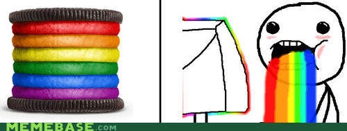 colors,gay,oreo,pride,Rage Comics,rainbow