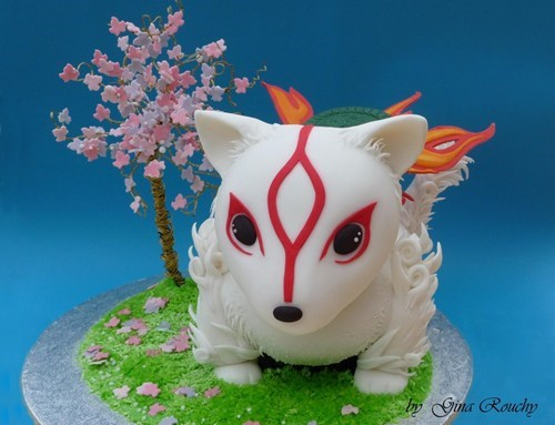 amaterasu,cake,Fan Art,noms,Ōkami