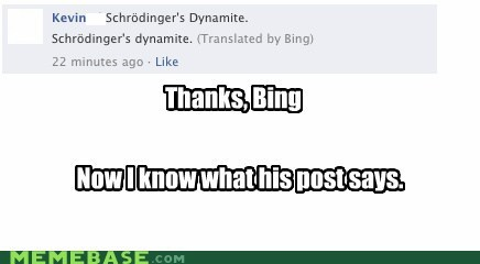 bing dynamite shrödinger Text Stuffs thanks