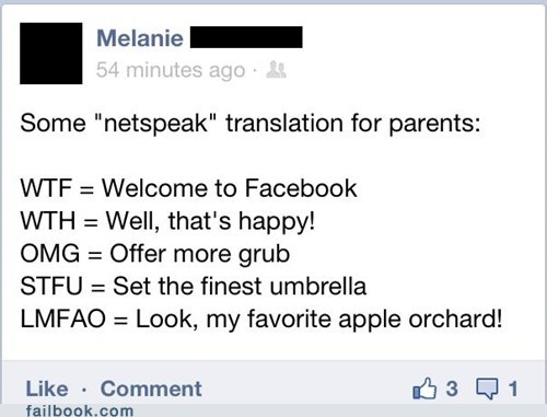 acronyms,netspeak,parents