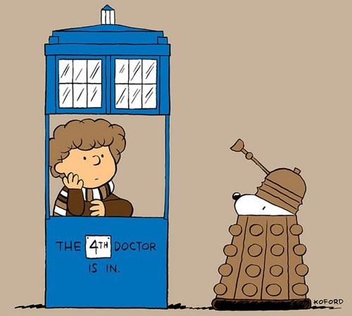 crossover doctor who Fan Art peanuts scifi - 6378187264
