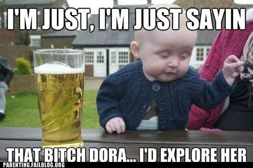 baby,beer,dora the explorer
