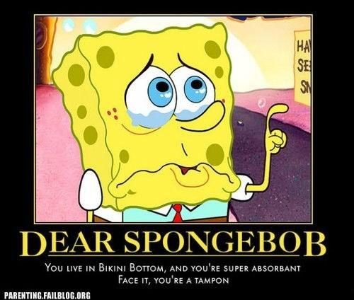 bikini bottom SpongeBob SquarePants tampon