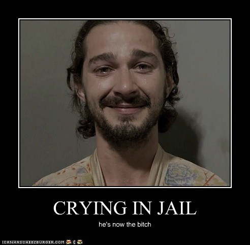 CRYING IN JAIL he's now the bitch