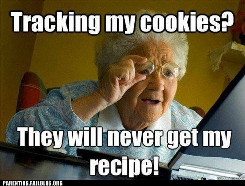 computers cookies grandma old lady recipe - 6378310656