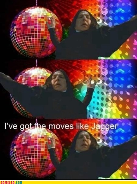 From the Movies Harry Potter moves like jaggar pay attention snape - 6378498048
