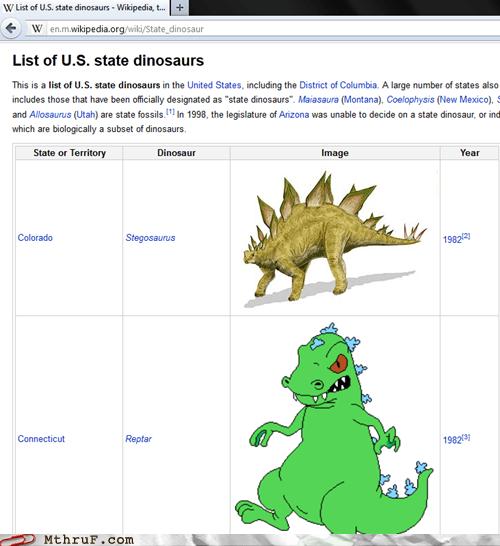 Colorado,Connecticut,dinosaur,reptar,rugrats,state dinosaur