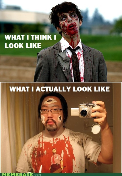 cosplay,FAIL,How People View,How People View Me,Shaun Of the dead,zombie