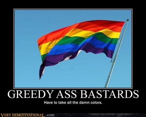 bastards,flag,hilarious,jerks,rainbow