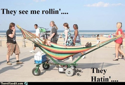 hammock,motorized hammock,they see me rollin