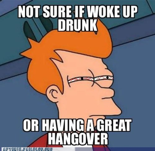 fry,fry meme,Futurama Fry,hangover,hungover,not sure if