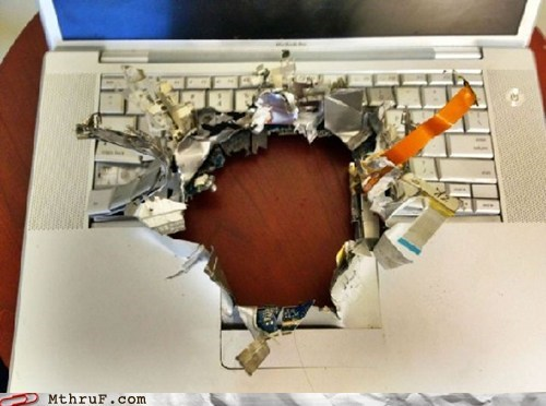 hole in laptop,laptop,macbook