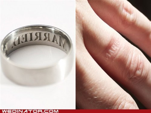 cheating funny wedding photos rings wedding rings - 6378845440