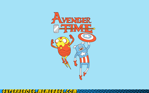adventure time avengers Awesome Art captain america iron man - 6378868480