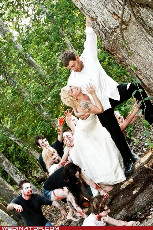 bride funny wedding photos groom Hall of Fame vampires zombie
