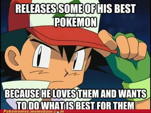 anime ash Memes releasing pokemon TV - 6378901248