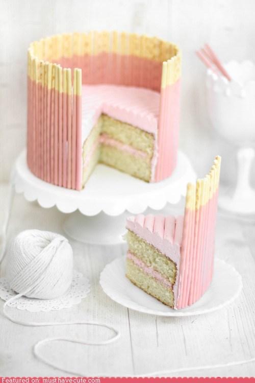 cake epicute frosting pink Pocky strawberry - 6378949120