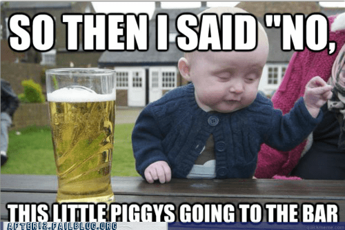 drunk baby,drunk baby meme,Hall of Fame,piggies,three little piggies