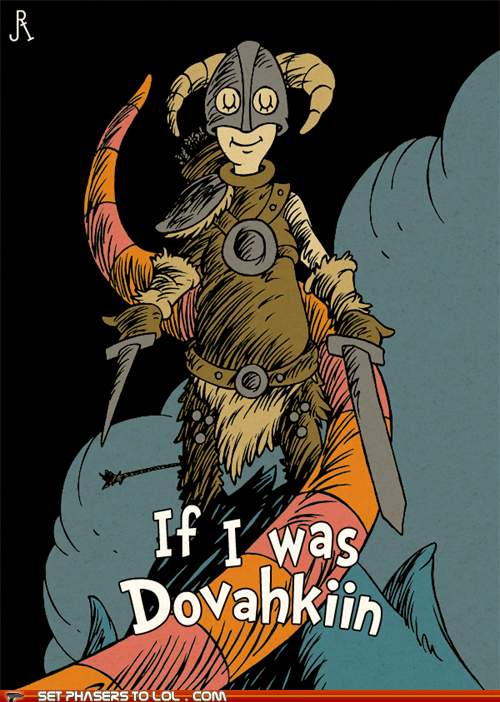 arrow in the knee dovahkiin dr seuss drawing Fan Art Skyrim - 6378975744