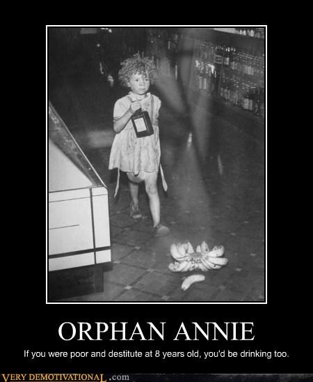 booze good idea hilarious kid orphan annie - 6378989056