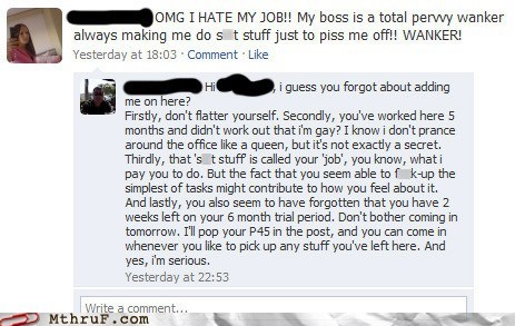 boss,facebook,fired,Hall of Fame,job,privacy,privacy setting