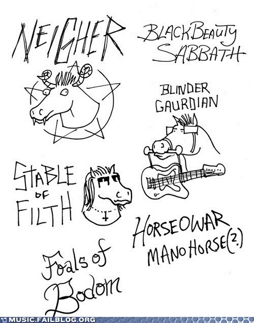 black sabbath horse metal slayer - 6379333632