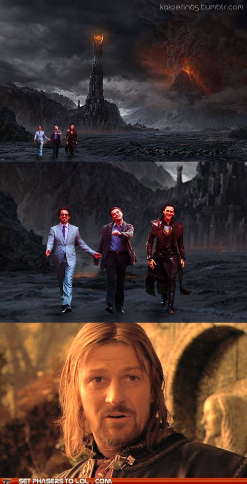 amazed,best of the week,Boromir,leonardo dicaprio meme,loki,Lord of The Ring,Lord of the Rings,sean bean,strutting leo,tom hiddleston,tony stark,walking