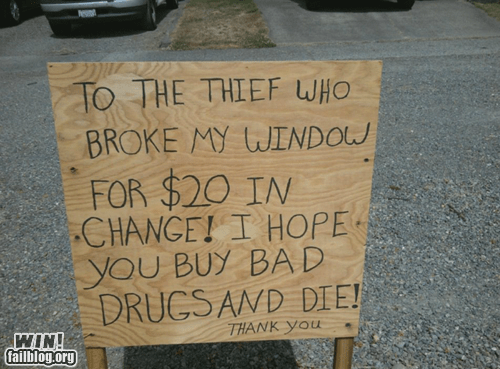 ouch,sign,stealing,thief