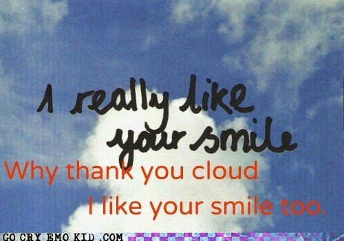 clouds,hipster edit,smile,weird kid