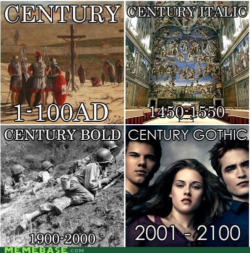 century fonts gothic Memes time - 6379430912