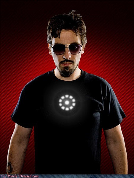 avengers iron man LED shirt tony stark