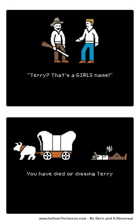 best of week,dysentary,oregon trail,terry,video games