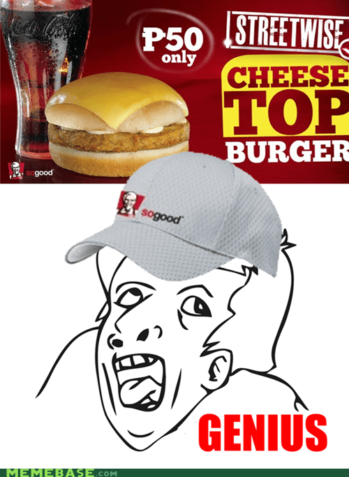 assemple burger cheese genius kfc Memes