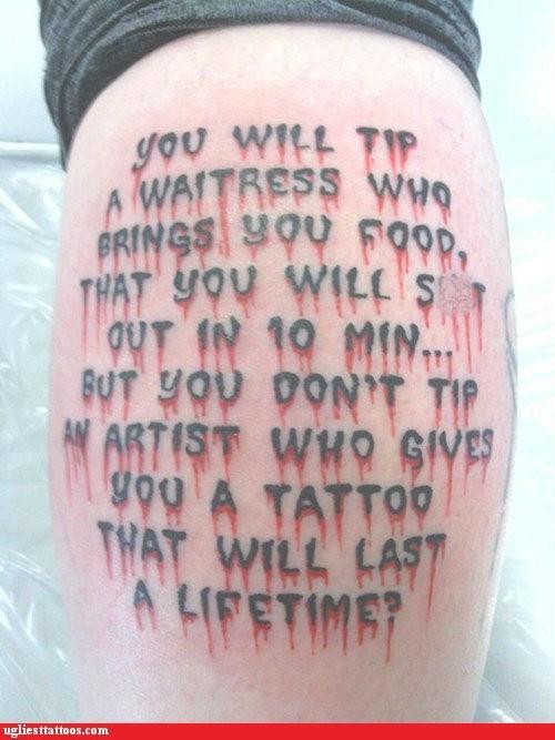 tattoo artist tip waitress - 6379808256