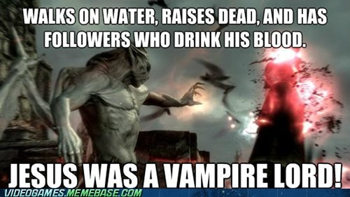 jesus the internets the son vampire walk on water - 6379973632