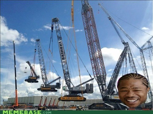 cranes lifting yo dawg - 6380135424