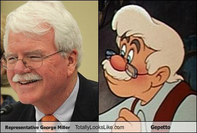 Representative George Miller Totally Looks Like Gepetto