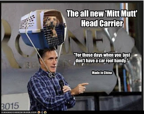 dog carrier,dogs,Mitt Romney,political pictures,Republicans