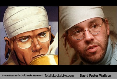 bruce banner,David Foster Wallace,funny,TLL,ultimate human,writer