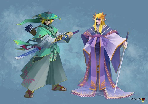 Fan Art,samurai,the legend of zelda,video games