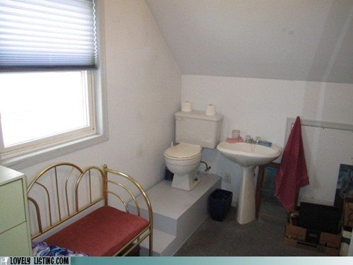 bathroom pedestal stairs toilet