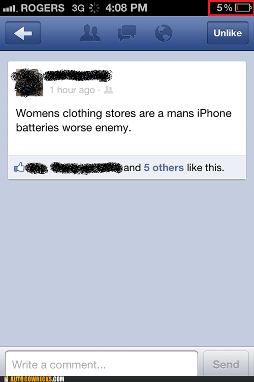 battery life,facebook for iphone,womens-clothing-store