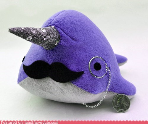 gent monocle mustache narwhal Plush sir - 6381638656