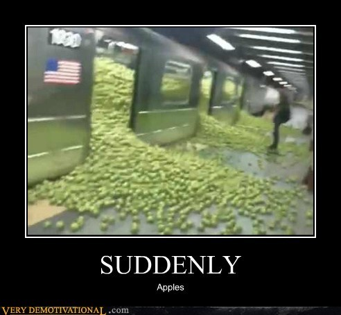 apples hilarious suddenly train wtf - 6381640960