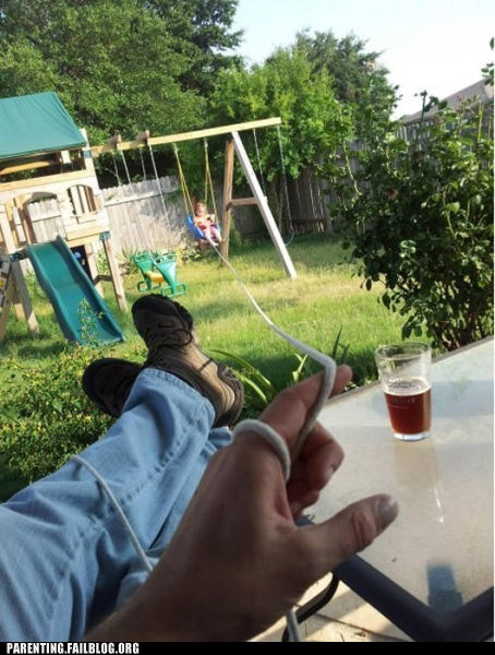beer,lounging,string,swing