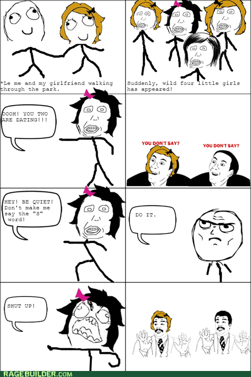 kids,Rage Comics,relationships,watch out guys,you dont say