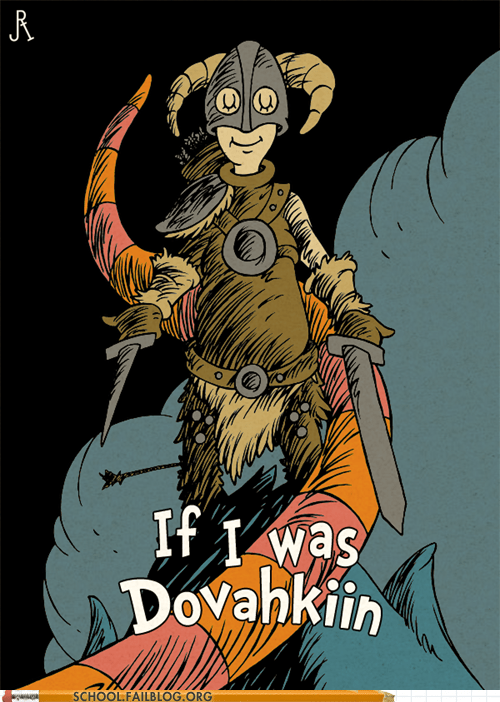 deviant art,dr seuss,If I was Dovahkiin,Skyrim